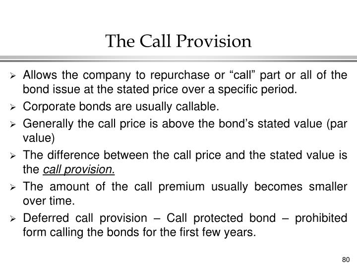 The Call Provision