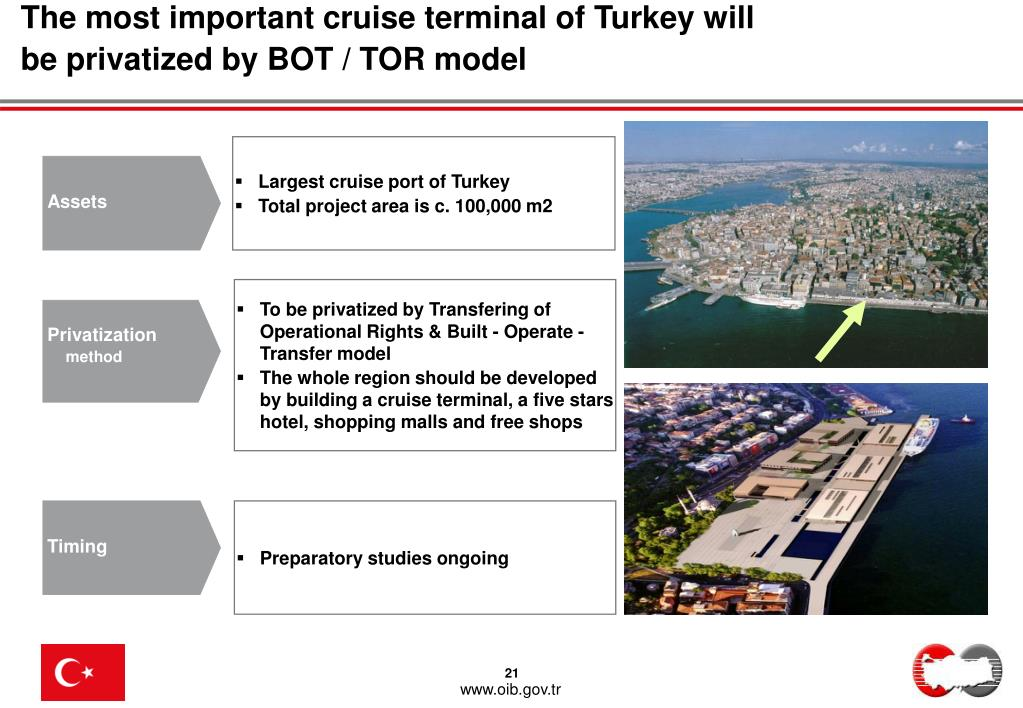 The most important cruise terminal of Turkey will be privatized by BOT / TOR model
