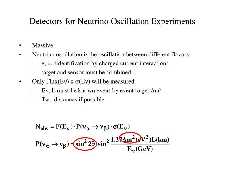 Detectors for Neutrino Oscillation Experiments