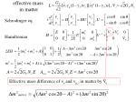 effective mass in matter