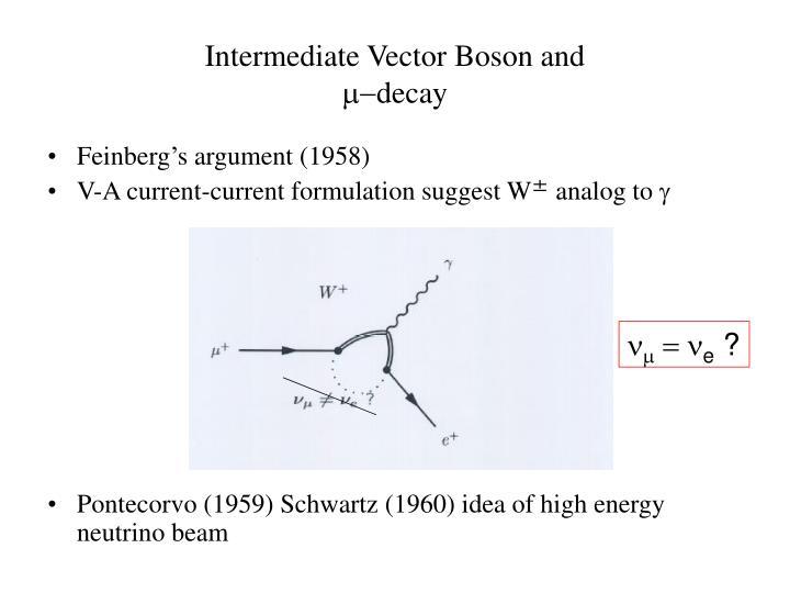 Intermediate Vector Boson and
