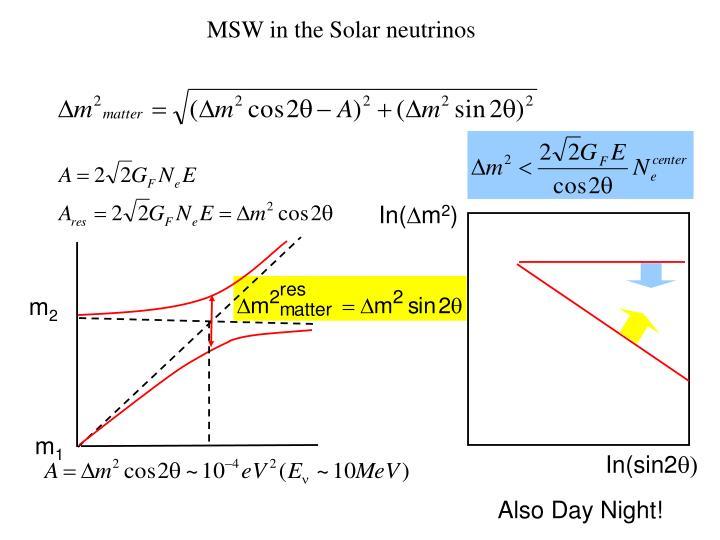 MSW in the Solar neutrinos