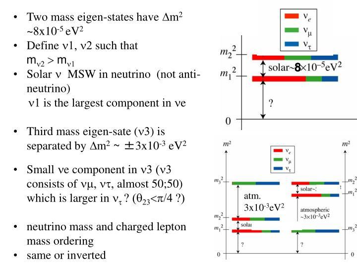 Two mass eigen-states have