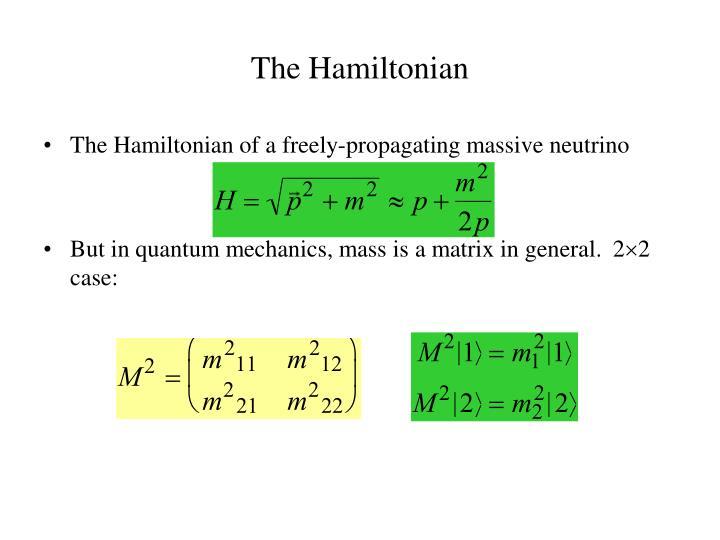 The Hamiltonian