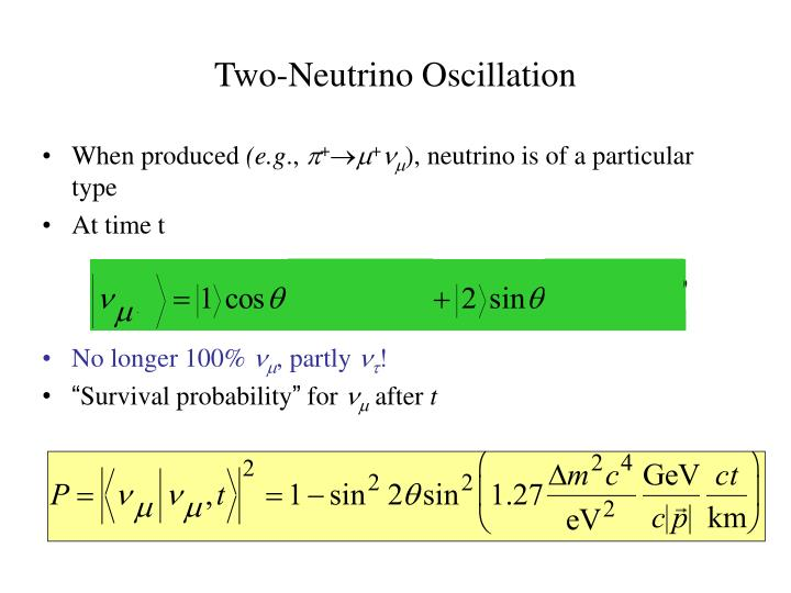 Two-Neutrino Oscillation