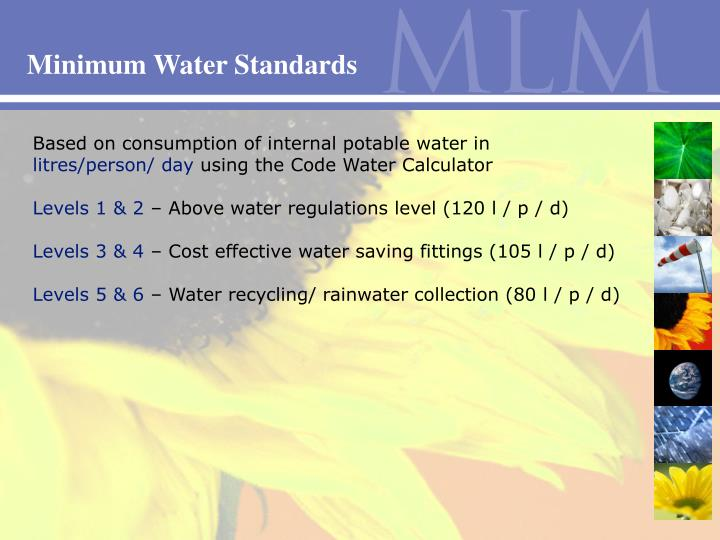 Minimum Water Standards
