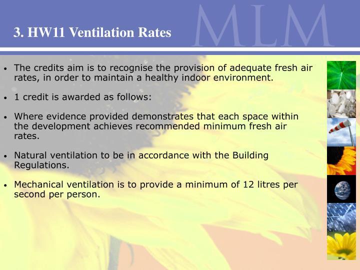 3. HW11 Ventilation Rates
