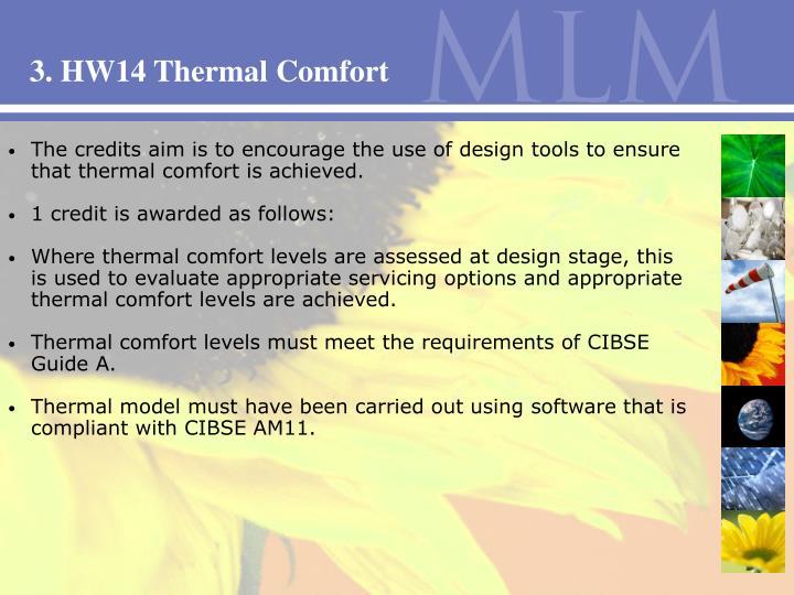 3. HW14 Thermal Comfort