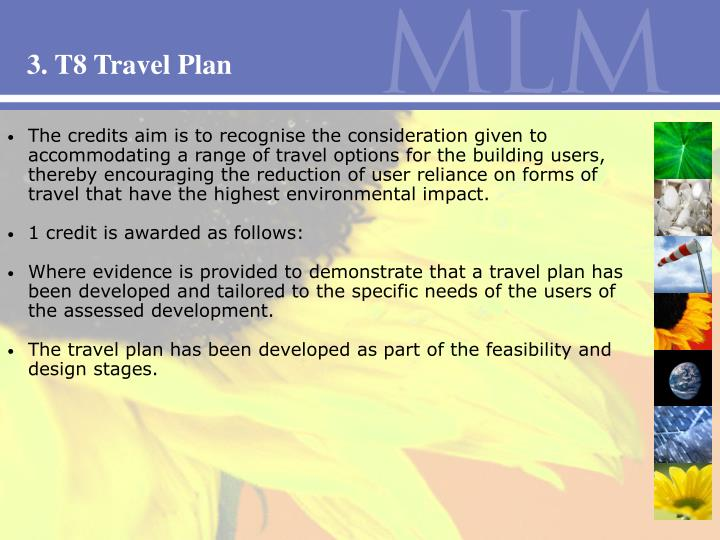 3. T8 Travel Plan