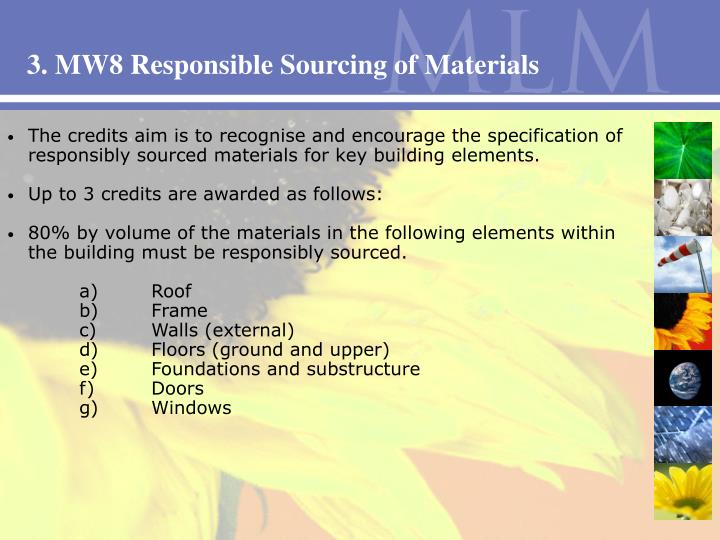 3. MW8 Responsible Sourcing of Materials