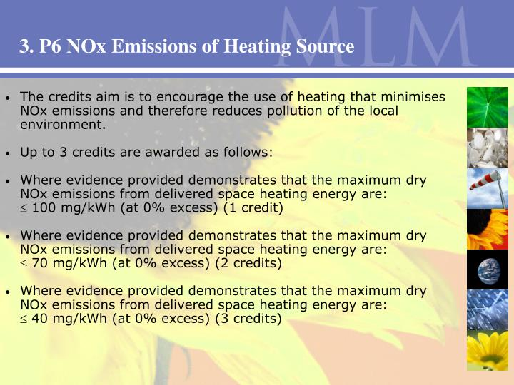 3. P6 NOx Emissions of Heating Source