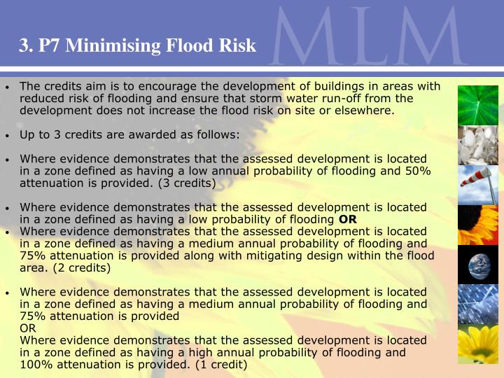 3. P7 Minimising Flood Risk