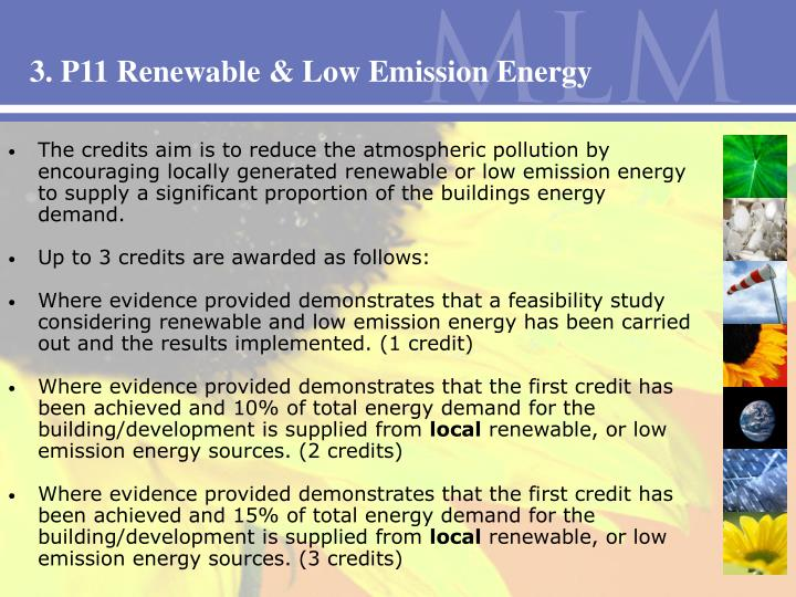 3. P11 Renewable & Low Emission Energy