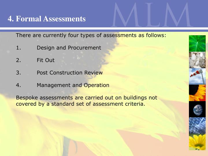 4. Formal Assessments