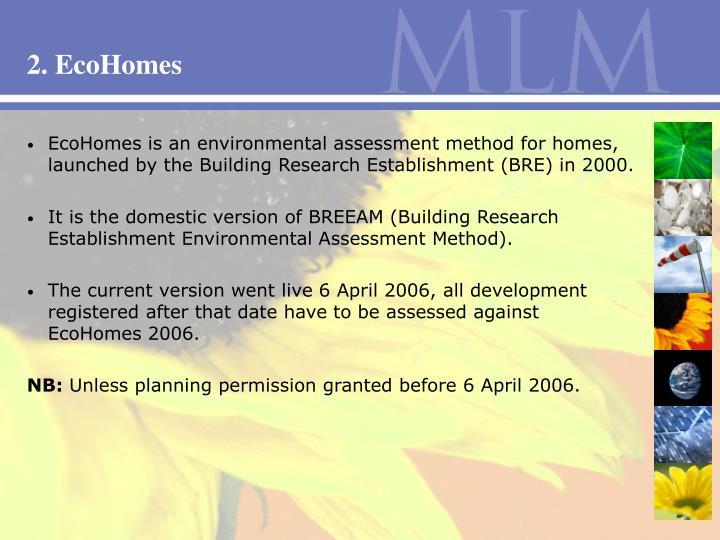 2. EcoHomes