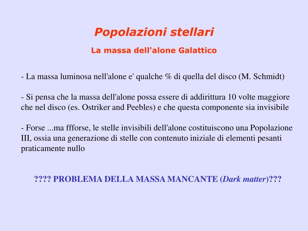 Popolazioni stellari