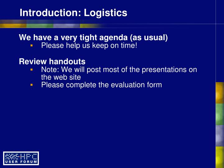 Introduction logistics