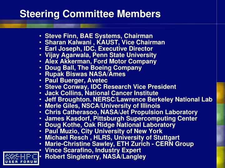 Steve Finn, BAE Systems, Chairman