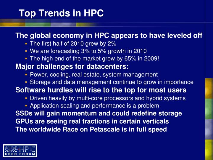 Top Trends in HPC