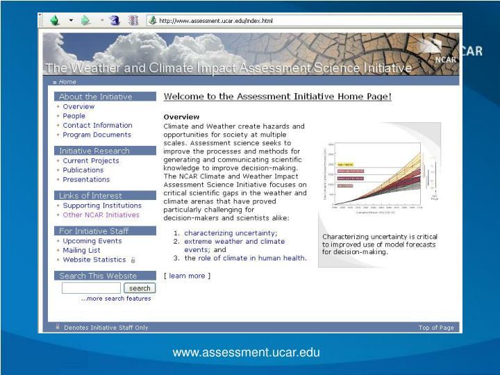 www.assessment.ucar.edu