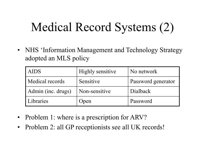 Medical Record Systems (2)