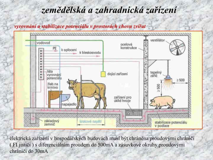 zemědělská a zahradnická zařízení