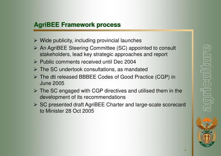 AgriBEE Framework process