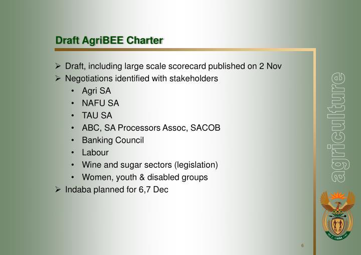 Draft AgriBEE Charter