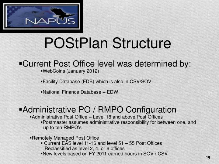 POStPlan Structure
