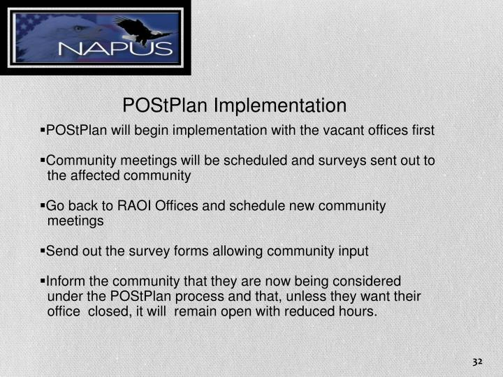 POStPlan Implementation