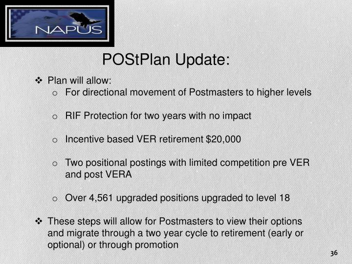 POStPlan Update: