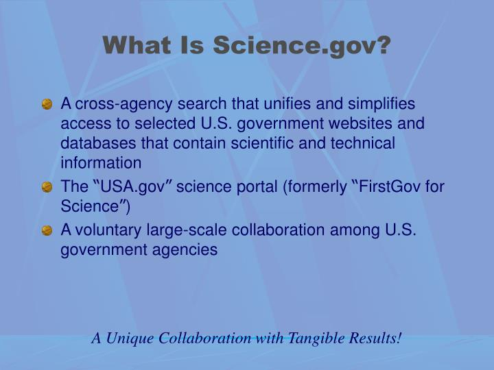 What Is Science.gov?
