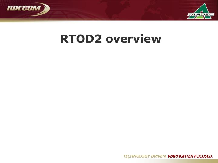 RTOD2 overview