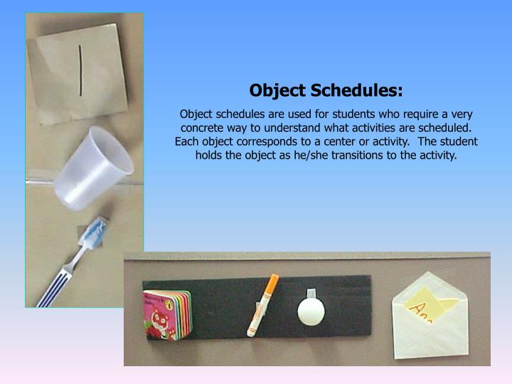Object Schedules: