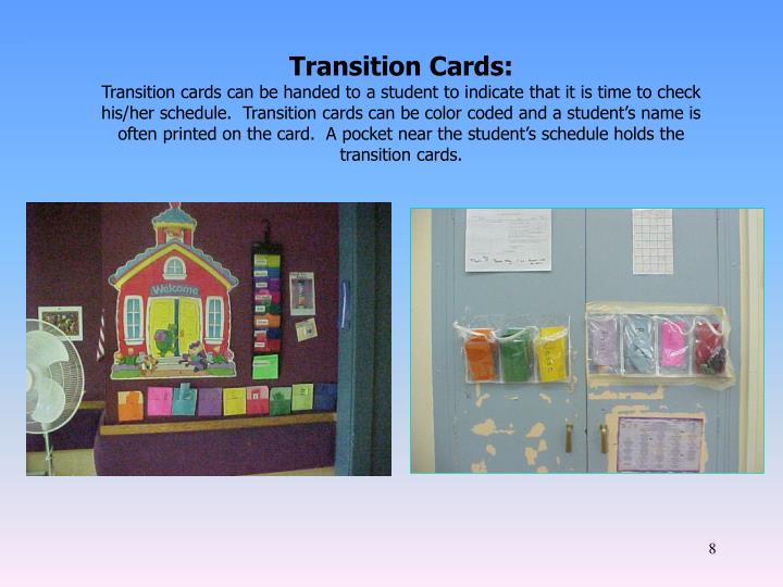 Transition Cards: