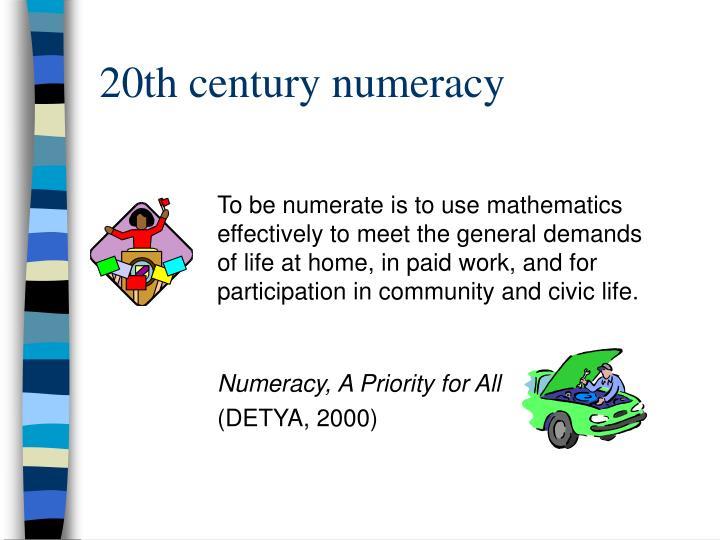 20th century numeracy