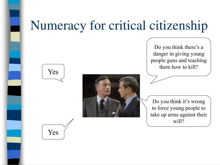 Numeracy for critical citizenship