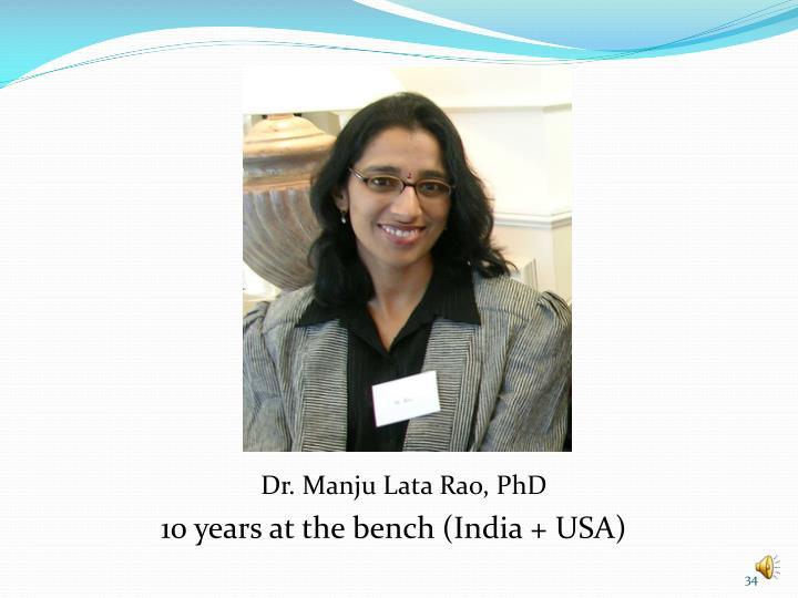 Dr. Manju Lata Rao, PhD