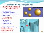 water can be changed by