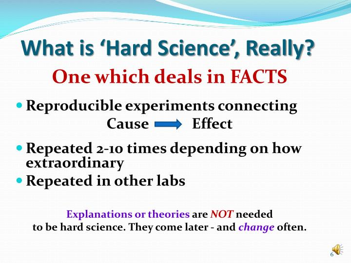 What is 'Hard Science', Really?