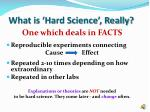 what is hard science really