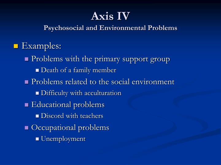 Axis IV
