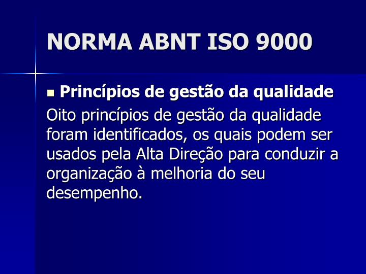 NORMA ABNT ISO 9000