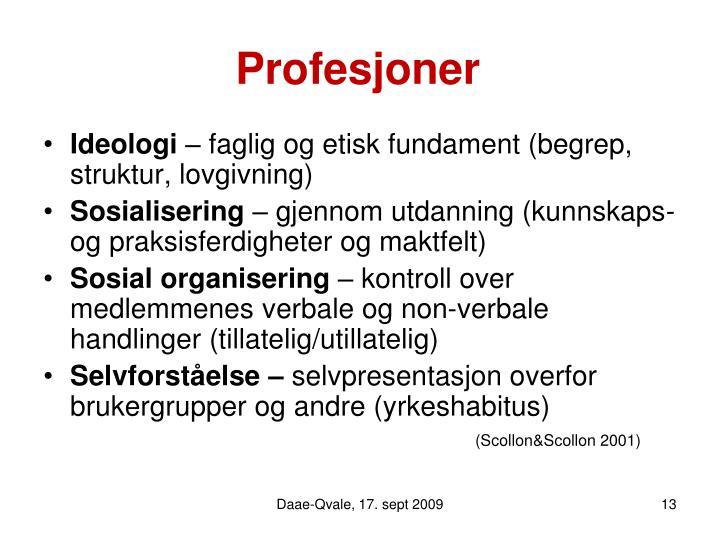Profesjoner