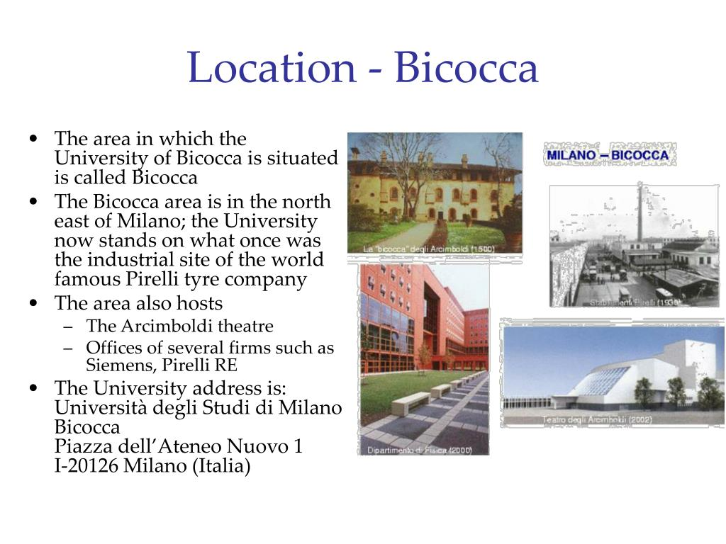 Location - Bicocca