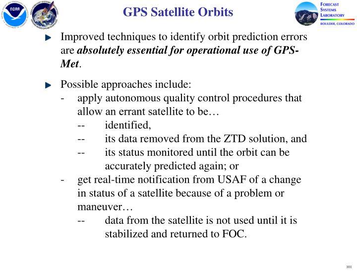 GPS Satellite Orbits