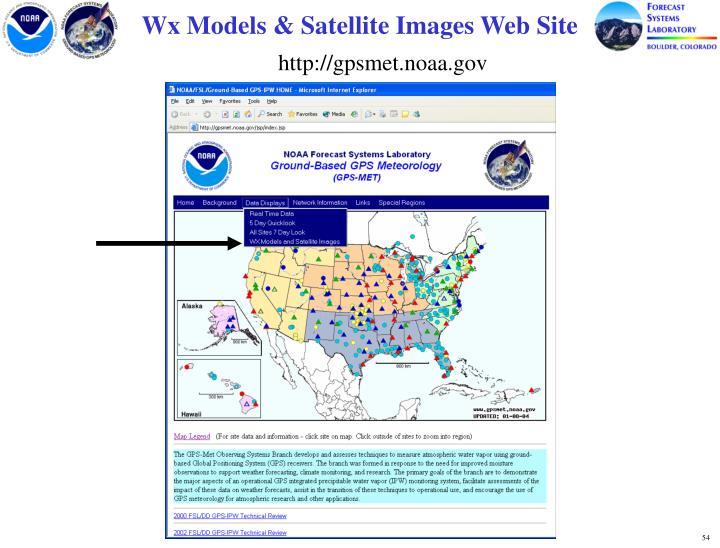Wx Models & Satellite Images Web Site