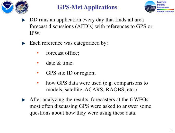GPS-Met Applications