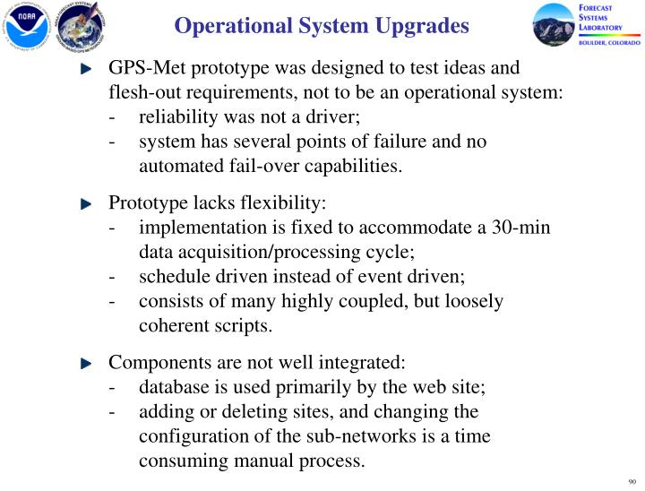Operational System Upgrades