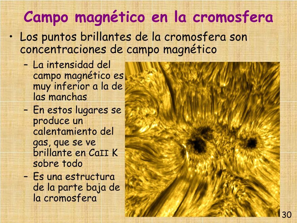 Campo magnético en la cromosfera